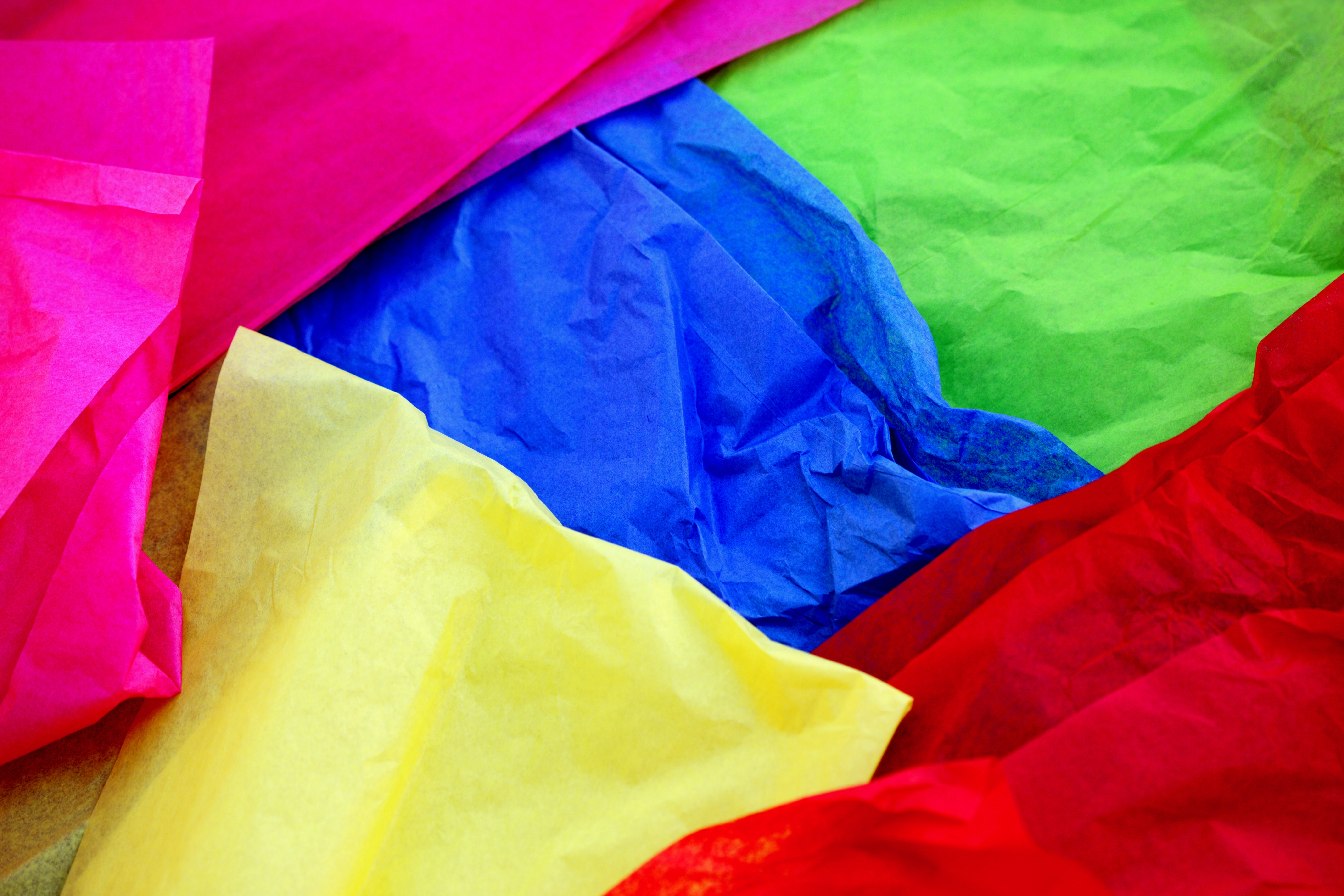 Bright and colorful tissue paper